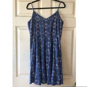 GAP blue printed summer dress / Large